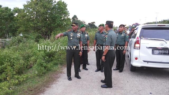 Pangdam XVIII/Kasuari saat berkunjung dikabupaten Sorong. 10/1-2017