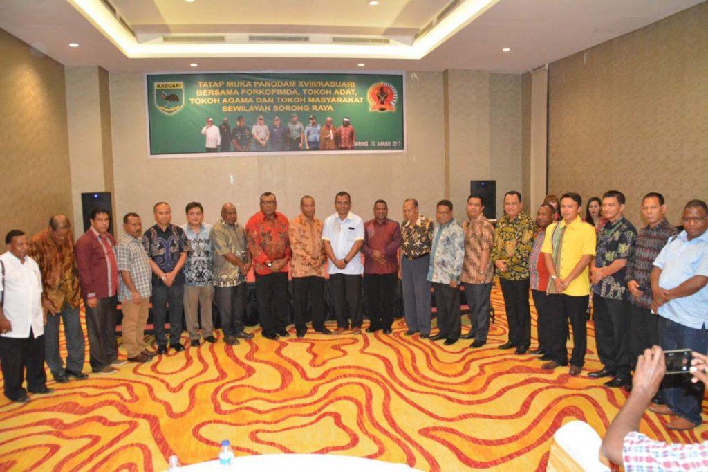 Pertemuan Pangdam XVIII/Kasuari bersama FORKOMPINDA Se-Sorong Raya