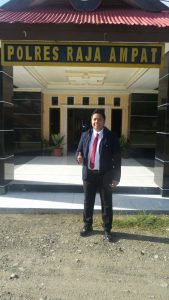 Kasat reskrim Rajaampat.AKP.Robin Kumbarayudha