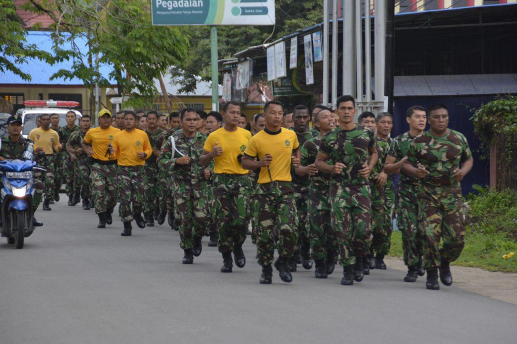Prajurit TNI Satuan Korem 171/PVT