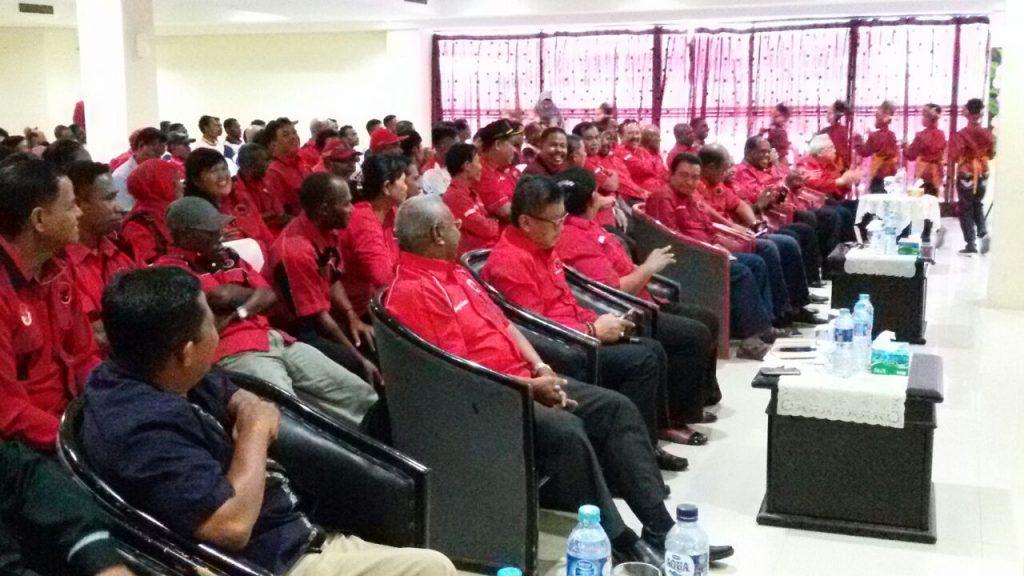 PDIP saat menggelar rapat dihotel Mariat kota Sorong.