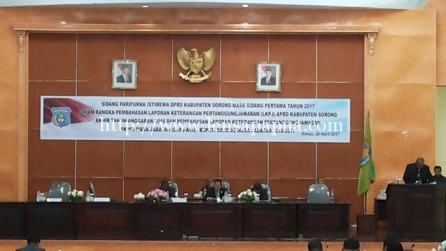 Penyampaian LKPJ Bupati Sorong Tahun Anggaran 2016 oleh Plt. Sekretaris Daerah, Ir. Moh. Said Noer, M.Si Dok/red