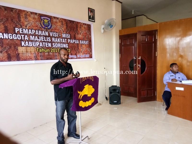 Pemaparan visi dan misi para calon anggota MRPB asal Kabupaten Sorong beberapa waktu lalu. Dok/rri