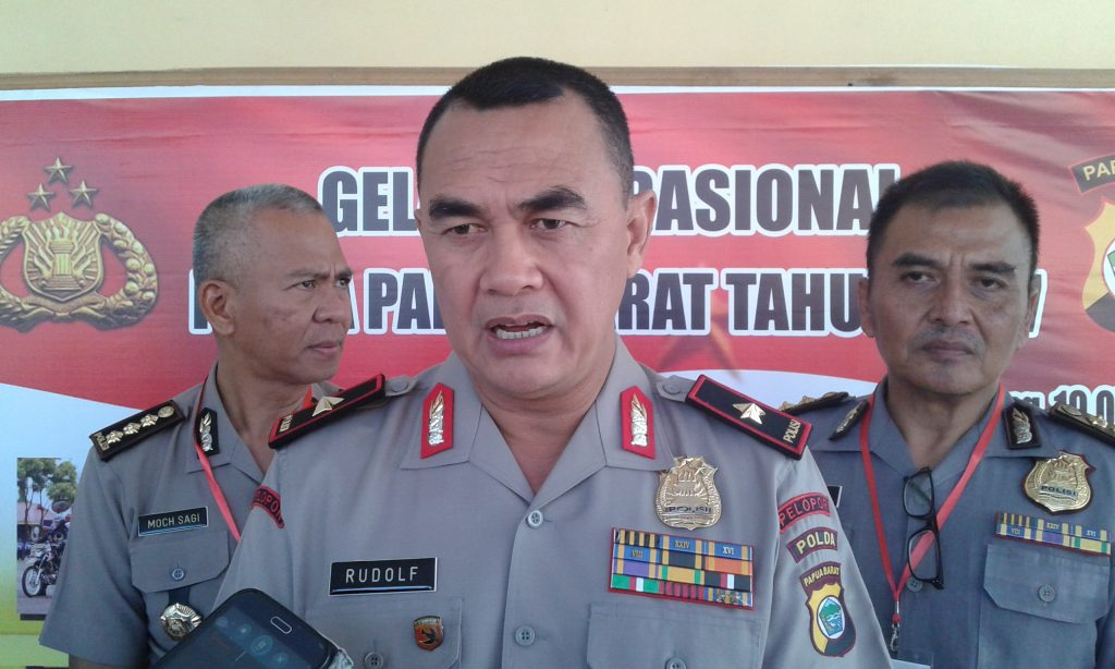 Kapolda Papua Barat, Brigjen Pol. Rudolf Rodja. Dok/red
