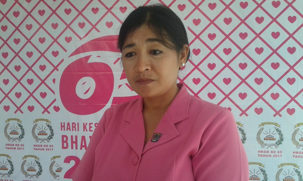 Ketua Bhayangkari Cabang Sorong, Ny. Komang Artini. Dok/red
