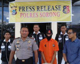 Polres Sorong berhasil ringkus tersangka pembunuhan Nurlela Panjaitan, Enal di wilayah hukum Polres Palu. Dok/red