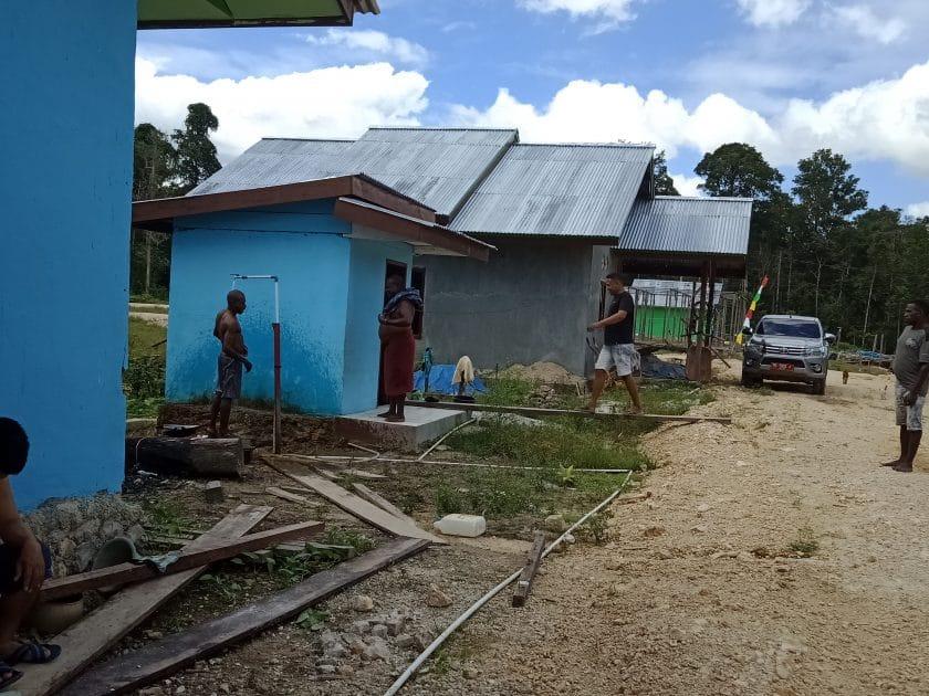 Perumahan warga Kampung Kladuk Distrik Sayosa Timu sekarang.