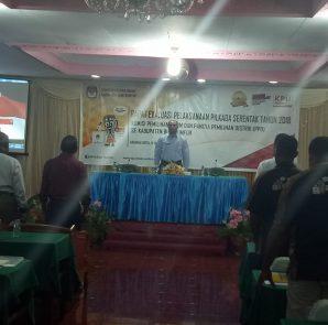 Rapat evaluasi KPU Biak Numfor bersama PPS se-Kabupaten Biak. dok/red