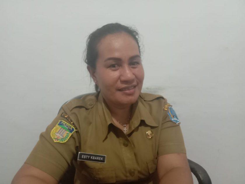 Plt Kepala LLK UKM Kabupaten Biak Numfor, Hesty Kbarek. Dok/red