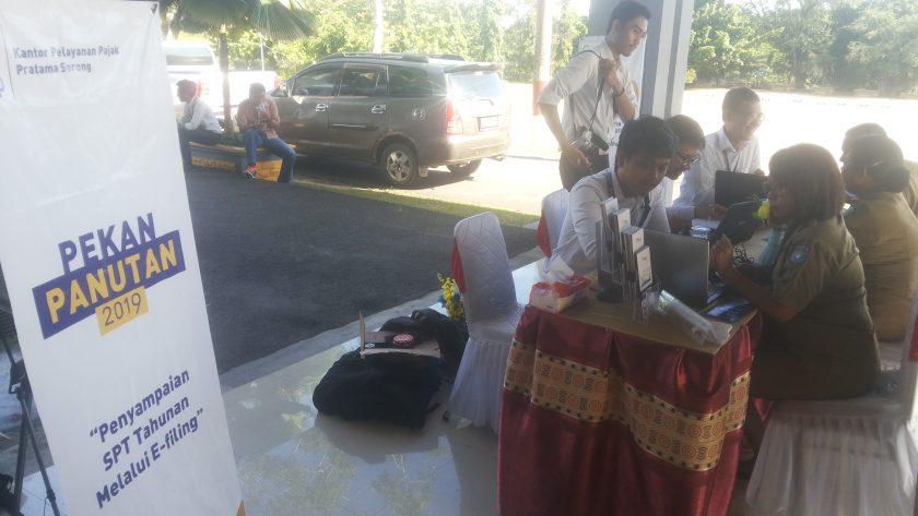Pojok Pajak di Kantor Bupati Sorong. Dok/red