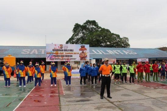 Pembukaan Kejuaraan Bola Volly Kapolres CUP Polres Biak Numfor 2019