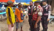 Patroli Rutin, Kali ini Polisi Sambangi Pasar Ikan Biak