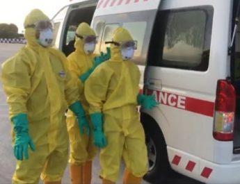 Bandara Frans Kaisiepo Biak Simulasi Penanganan Virus Corona
