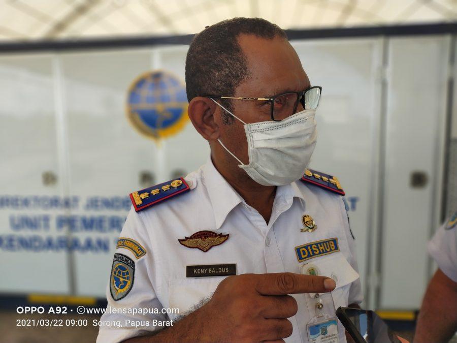 Kepala Dinas Perhubungan Kabupaten Sorong, Keny Baldus. Dok/red