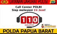 110, Layanan Polisi Yang Diberlakukan Di Wilayah Hukum Polda Papua Barat