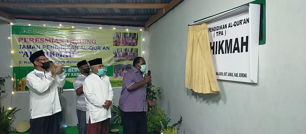"""Resmikan TPA Al Hikmah, Johny Kamuru: """"Anak-anak Adalah Aset Masa Depan"""""""